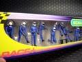 Scalextric1/32スロットカー用アクセサリー C8293◇ピットクルー10体セット 「Tire Change Crew/ブルー」  (Jack Men x3 Wheel Men x7)  展示演出に最適!