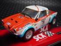 "SCX 1/32 スロットカー ◆FIAT  124 Spyder/Rally ""GULF""  ライト点灯★希少・人気商品!"