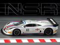 NSR 1/32 スロットカー NSR0152◆ Mosler MT900R #63  Martini Racing silver-Grey,,  EVO5/Anglewinder. マルティレーシングがデビュー!