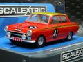 "Scalextric 1/32 スロットカー C3870◆Ford Lotus Cortina  #41/John Whitmore ""Alan Mann Racing""  1965 ETCC 500km  アランマンの真っ赤なコルチナ!★再入荷!"
