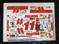 """オリジナルパーツ 1/32 スロットカー用デカール ◆#11 BRETT BODINE  """"Hooters"""" Ford Taurus    1/32スケール NASCAR デカール ◆ウォータースライドデカール。"""