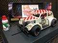 """Pioneer 1/30 スロットカー P084◆""""Santa"""" Legends Racer '37 Chevy Sedan.  'Buttermilk White'. '37 シボレーセダン★X'masに""""サンタ""""スペシャルバージョン! 12月24日ごろ入荷予定!"""