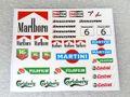 PSR製 1/32 スロットカー用デカール S02◆ビニール スポンサーデカールセット Vinyl Stickers Various Logos 2 1/32スケール!◆そのまま貼れる便利なビニールデカール。