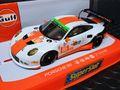 """Scalextric/Superslot 1/32 スロットカー H3732◆Porsche 911 (type991) """"GULF-RACING"""" Silverstone, 2015 Elms Series  前後ライト点灯 ハイディティールモデル!◆スペイン仕様の「スーパースロット」のケースが新鮮なコレクターアイテム!!!"""