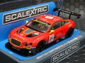 "Scalextric 1/32 スロットカー  C3845◆Bentley Continental GT3, ""Team HTP Red""  ハイディティールモデル・前後ライト点灯◆再入荷!"