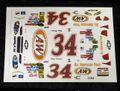 """オリジナルパーツ 1/32 スロットカー用デカール #34  Tony Raines  """"A&W"""" Chevy Impala   1/32スケール NASCAR デカール ◆ウォータースライドデカール。"""