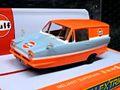 """Scalextric 1/32 スロットカー C4193◆ Reliant Regal Van """"Gulf Edition"""".  リライアント・リーガル バンにガルフエディション新発売!★入荷しています。"""