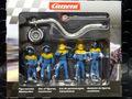 Carrera 1/32 コースサイド アクセサリー  21132◆ピットクルー /フィギュア 5体SET 給油ホース&ロリポップ 付き   Pit Cruw  Mechanics ★ブルークルー 貴方のサーキットに!