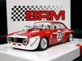 BRM 1/24 スロットカー  BRM-105 ◆ BRM Alfa Romeo GTA 1300 Junior #33, 4h Jarama 1972   1/24ミニサルーンカーシリーズに「アルファ1300GT ジュニア」登場!★コレはお薦め。