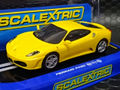 Scalextric 1/32 スロットカー C2873 ◆ Ferrari F430 Yellow 「Drift -Car」 360°ターン出来るドリフトガイド装備人気商品!!★希少モデルが再入荷!