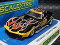"scalextric1/32 スロットカー C4107◆ Chevrolet Corvette   #68 ""Flames"" わかる人だけに是非どうぞ★新登場 フレームス・コルベット!"