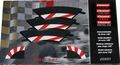 Carrera コース拡張パーツ   20551 ◆1/60カーブ用 インサイドショルダー/Inside Shoulder / Border for 1/60 Curve   3枚入り エンドピース2個つき★コーナーの内側これでも安心。