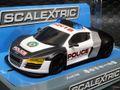 scalextric 1/32 スロットカー   C932◆AUDI R8  POLICE-CAR サイレンサウンド♪ & フラッシュ パトライト!  新製品アメリカンスタイルのポリスカー!★コレお早めにね!
