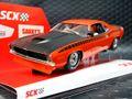 SCX 1/32 スロットカー U10365X300-O◆Plymouth Cuda 1970 「Orange」  ―500 Limited Edition/ Serial No's―  レア!★オレンジ再入荷済み!