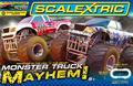 ScaLextric  アナログ・コースセット  C1302◆Monster Truck Mayhem Starter Set/モンスター トラック セット アナログコースセット モンスタートラック2台入り/コントローラー、AC電源付 ジャンプ台もあるエキサイトなコース! 入荷しました★これ面白いぞ!。