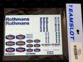 """teamslot社製 1/32 スロットカー用デカール ◆ロスマンズのデカールセット """"Rothmans""""  1/32スケールで使い道いろいろ!◆ウォータースライドデカール。"""