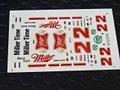 """オリジナルパーツ 1/32 スロットカー用デカール #22 BOBBY ALLISON """"Miller High Life""""  Buick    1/32スケール NASCAR デカール ◆ウォータースライドデカール。"""