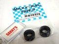 maxxtruck-Tire 1/32 スロットカーパーツ M09X ◆r SCX  NASCAR & Plymouth Cuda用 シリコン スリックタイヤ 2本パック  ウッドコースやカレラコースで威力を発揮するシリコンタイヤ!★マックストラックタイヤ From U.S.A.