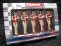 Carrera 1/32 コースサイド アクセサリー  21113◆グリッドガール 5体セット/GRID GIRLS FIGURES  サーキットのジオラマに!★自慢のマシンのそばに!