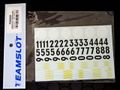 "teamslot社製 1/32 スロットカー用デカール ◆ゼッケンナンバーとミシェランロゴのデカールセット ""Michelin & Numbers""   1/32スケールで使い道いろいろ!◆ウォータースライドデカール。"