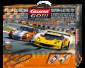 Carrera Go 1/43 コースセット 62379◆GT COMPETITION 「GTコンペティション」ホームサーキット・フルセット ポルシェ911とコルべットが2台付 ★お家がサーキットに!お子様へのプレゼントにも最適!