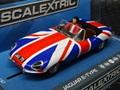 Scalextric 1/32 スロットカー   C3878◆ Jaguar E-Type Union Jack ◆最新モデル・入荷完了!