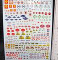 1/32 スロットカー用 ウォータースライドデカール  ◆アメリカン レーシング スポンサー MIX セット   内容多数★これは便利!