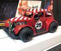 """Pioneer 1/30 スロットカー P080◆""""Santa"""" Legends Racer '37 Chevy Sedan.  ''Candy Cane Red"""". '37 シボレーセダン★X'masに""""サンタ""""スペシャルバージョン! 12月24日ごろ入荷予定!"""