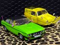 "Scalextric 1/32 スロットカー C4179A◆ ""Only Fools And Horses"" yellow Reliant Regal Supervan & Ford Capri Mk III. Special Edition Twinpack. スペシャルエディション!★2台入り限定ボックス!"