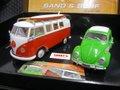 """Scalextric 1/32 スロットカー  C3371A◆VW Beetle & VW Camper Van """"Sand & Surf""""  Limited Edition   限定ボックス2台入り ハイディテールモデル  ★希少・限定モデルが再入荷!"""