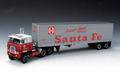 "DieCast Promortion 1/64 ダイキャストモデル  ◆ International Transtar w/Vintage Dry Goods Trailer ""Santa Fe Piggy Back""  おすすめ オールダイキャスト製★クラシック・トラクタートレーラー!"
