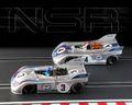 "NSR 1/32 スロットカー  SET10◆ PORSCHE 908/3 NURBURGRING 1971  #3 & #4 ""MARTINI RACING"" - Limited Edition -  「マルティニ」リミテッドボックス。 2020年初荷!★入荷しました。"