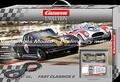 """Carrera 132 コースセット  25215◆Fast Classics II  SET  """" ファスト・クラシックⅡ"""" シェルビー・コブラとシボレー・コルベットの2台入りフルセット 全長4.5m  2015年・夏の製品★カッコ良い、クラシックアメリカンのアナログセットが入荷!"""