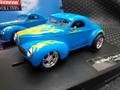 "Carrera 1/32 スロットカー  27396◆'41 Willys Coupé ""Custom"" blue  美しいホットロッド!!ヘッドライト・テールランプ点灯★入荷済み!"