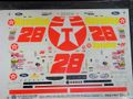 "slixx製 1/24 スロットカー用 NASCARデカール #28 Kenny Irwin, Jr.  ""TEXACO Havoline""  FORD 希少!◆ウォータースライドデカール"