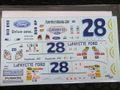 1/24 NASCAR デカール #28 LaFAYETTE FORD 2008 FORD FUSION.  TRAVIS KVAPIL DARLINGTON 希少・ウォータースライドデカール ◆懐かしいねぇ!