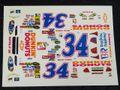 """オリジナルパーツ 1/32 スロットカー用デカール #34 Bruce Thomas """"Dunkin Donuts""""  CHEVY IMPALA SS   1/32スケール NASCAR デカール ◆ウォータースライドデカール。"""