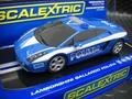 "Scalextric 1/32 スロットカー  ◆Lamborghini Gallardo""Polizia ""    絶版・希少商品★パトライト点滅   ★現品限り"