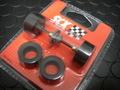 SCX 1/32 スロットカーパーツ  ★ NASCAR用 タイヤ4本 & リヤアクスルset   純正スペアパーツ  ★人気商品