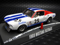 Pioneer 1/32スロットカー  ★1968 Ford Mustang SFD Team  #25/NEW!ホワイト   再入荷済み★今すぐご注文を!