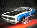 SCX 1/32 スロットカー  A10048X300◆PLYMOUTH BARRACUDA   White/Blue    Cool American!★お手ごろ価格で再入荷!