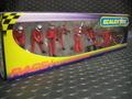 Scalextric1/32スロットカー用アクセサリー C8324◆ピットクルー10体セット 「Tire Change Crew/レッド」  (Jack Men x3 Wheel Men x7)  展示演出に最適!