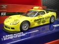 "SCX 1/32 Digital スロットカー  51X300◆Chevrolet Corvette C6 ""Safety Car""  フラッシュライトバー&ヘッドライト点灯!  豪華化粧箱入り・話題の新商品★デジタルユニットは取り外し可能!アナログでもどうぞ!"