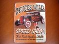 """アンティーク """"ブリキの看板"""" ◆SPEED SHOP/DEUCES WILD   American Garage Sine  インテリアに!ガレージに!  30%OFF・特価★ブリキ製"""
