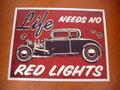 """★アンティーク """"ブリキの看板"""" ◆LIFE/RED LIGHTH  American Garage Sine  インテリアに!ガレージに!  30%OFF・安いよ!★ブリキ製"""