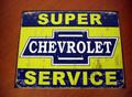 """アンティーク """"ブリキの看板"""" ◆CHEVORLET/SERVICE  American Garage Sine  インテリアに!ガレージに!  30%OFF・安いよ!★ブリキ製"""
