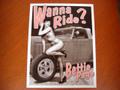 """アンティーク """"ブリキの看板"""" ◆WANNA RIDE/Betiie Page  American Garage Signe  インテリアに!ガレージに!  30%OFF・安いよ!★ブリキ製"""