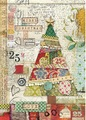 Rice paper A4 Patchwork Tree