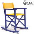 Swingdesign ロッキングチェアー 青 [Montezuma]