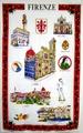 【送料無料】フィレンツェの観光名所をモチーフにしたタペストリー 55 X 89cm Made in Italy